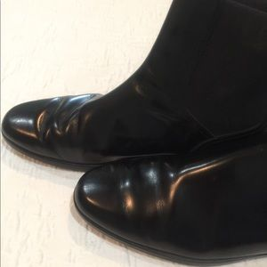 Tod's leather ankle boots, black, size 40.